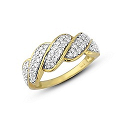 Love Story - 9ct gold diamond ring