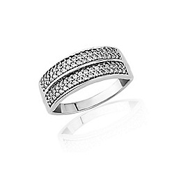 Love Story - 9ct white gold diamond set ring