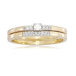 Love Story - 9ct Gold Ladies 0.10ct Diamond Rings