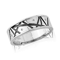 Love Story - Silver gents dress ring