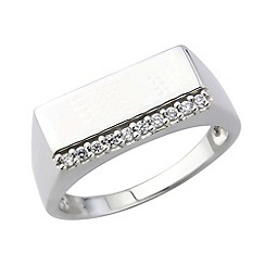 Precious Moments - Sterling silver cz gents ring