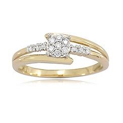 Love Story - 9ct Gold Ladies 0.15ct Diamond Ring