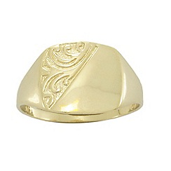 Precious Moments - 9ct Yellow Gold Signet Ring