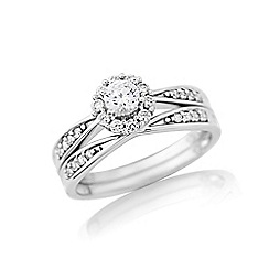 Love Story - Sterling Silver Stone set Two Part Dress Ring