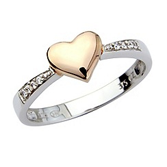 Precious Moments - Silver and 9ct rose gold ring
