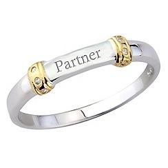 Precious Moments - Silver ladies 'partner' ring