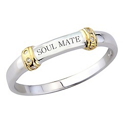 Precious Moments - Silver 'soulmate' ladies ring