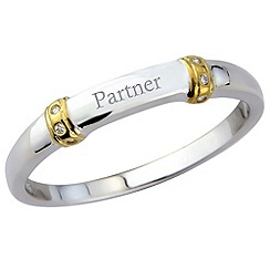 Precious Moments - Silver, gents 'partner' ring