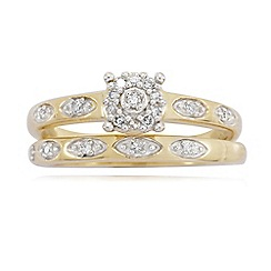 Love Story - 9ct Gold 0.15ct Diamond Rings