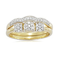 Love Story - 9ct Gold 0.50ct Ladies Diamond Ring Set