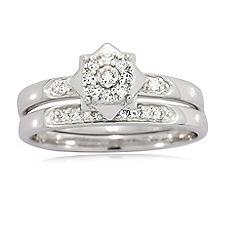Love Story - 9ct White Gold 0.15ct Diamond Rings