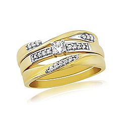 Precious Moments - 9ct Gold  Diamond set of rings