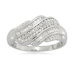 Love Story - 9ct White Gold Ladies 0.20ct Diamond Ring