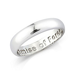 Love Story - Silver gents dress ring 'promise of forever'