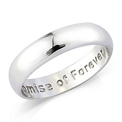 Love Story - Silver ladies dress ring 'promise of forever'