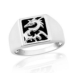 Love Story - Sterling Silver 'Dragon' Gents Dress Ring