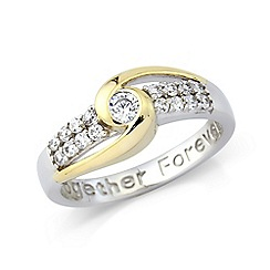 Precious Moments - Sterling Silver 'Together Forever' Ladies Dress Ring