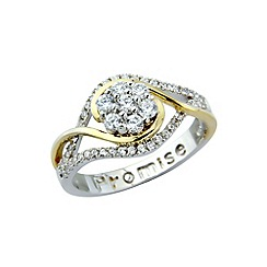 Precious Moments - Sterling silver & gold plated cz 'Promise' ring