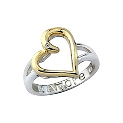 Precious Moments - Sterling silver and yellow rhodium message ring