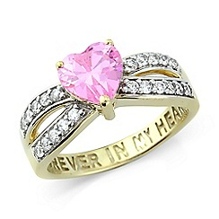 Precious Moments - Ladies stone-set 'Forever in my heart' ring