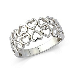 Love Story - Silver heart ladies dress ring
