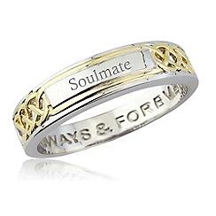 Precious Moments - Silver yellow rhodium ladies 'soulmate' dress ring