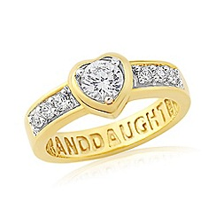 Precious Moments - Sterling silver & yellow gold plated 'Grandaughter' ring
