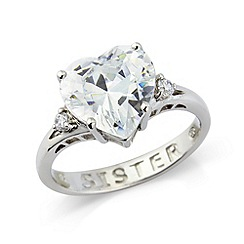 Precious Moments - Sterling silver cz 'Sister' ring