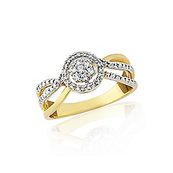 Love Story - 9ct gold 1/5th of a carat ladies diamond ring