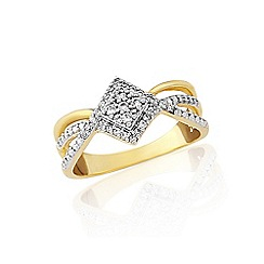 Love Story - 9ct gold ladies 18pts diamond ring
