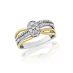 Love Story - 9ct yellow and white gold 1/4ct diamond ring
