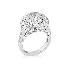 Love Story - Sterling silver & cz ring