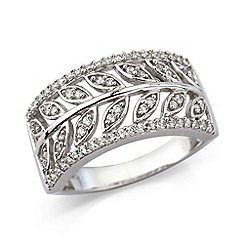 Love Story - Sterling silver cz ring