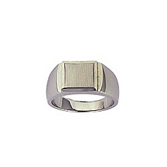 Love Story - Sterling Silver Gents Signet Ring
