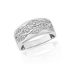 Love Story - 9ct white gold diamond 1/4ct diamond dress ring