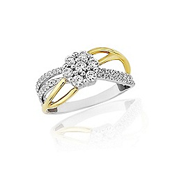 Love Story - 9ct yellow and white gold 1/2 carat diamond ring