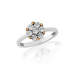 Love Story - 9ct white gold, ladies diamond ring