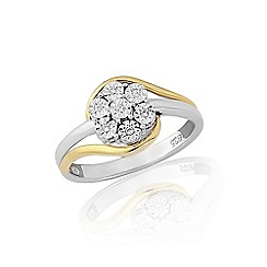 Love Story - 9ct white and yellow gold diamond ring