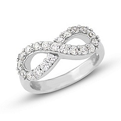 Precious Moments - Sterling silver & cz ring