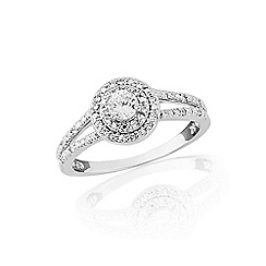 Love Story - 9ct white gold 1/3 of a carat diamond ring