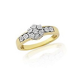 Love Story - 9ct yellow gold diamond dress ring