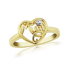 Precious Moments - 9ct gold 'mum' ladies ring