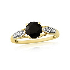 Love Story - 9ct gold sapphire and cubic zirconia ladies dress ring