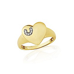 Precious Moments - 9ct Gold Plate On Sterling Silver Hoofprints Signet Ring