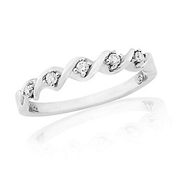 Love Story - Sterling Silver Ladies Diamond Eternity Ring