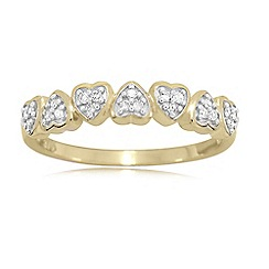 Love Story - 9ct Gold Ladies Diamond Ring