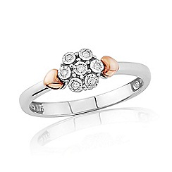 Love Story - 9ct White And Rose Gold Diamond Ring
