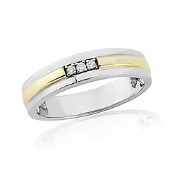 Love Story - 9ct Gold Plated Sterling Silver Ring