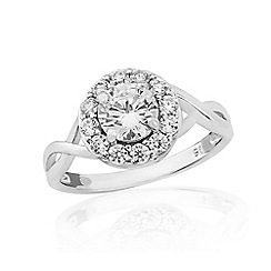 Love Story - 9ct White Gold Stone-Set Dress Ring
