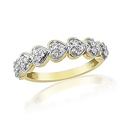 Love Story - 9ct Yellow Gold Eternity Ring